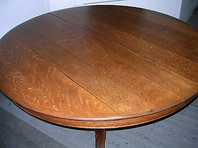 Well Known Antique Solid Quartersawn Oak 54 Inch Round Table Carved Within Steven 55'' Pedestal Dining Tables (View 19 of 25)