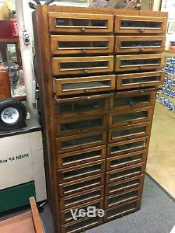 Well Known Antique Wood 26 Drawer / Glass Front Apothecary General For Candie (View 19 of 25)