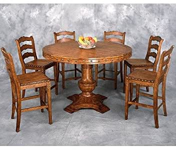 """Well Known Bar Height Pedestal Dining Tables Inside Amazon – Country Classics Counter Height 54"""" Round (View 13 of 25)"""