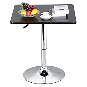 Well Known Bar Height Pedestal Dining Tables Throughout Amazon: World Pride Modern Black Square Pedestal Table (View 21 of 25)