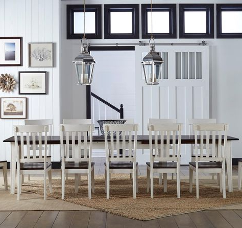 Well Known Belton Dining Tables Pertaining To Toluca Solid Wood Leg Table With 3 Self Storing Leaves (View 13 of 25)