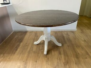 Well Known Bineau 35'' Pedestal Dining Tables Throughout Round Pedestal Dining Table Vintage Look (View 9 of 25)