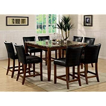Well Known Bushrah Counter Height Pedestal Dining Tables Intended For Amazon – Counter Height Dining Table With Storage Base (View 23 of 25)