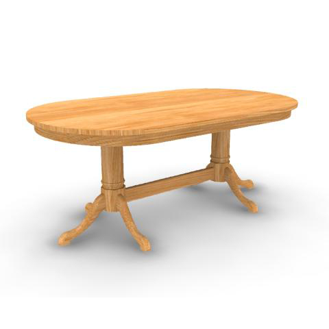 Well Known Cabriole Double Pedestal Solid Top Dining Table In Geneve Maple Solid Wood Pedestal Dining Tables (View 6 of 25)