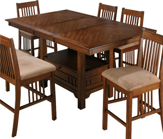 Well Known Dallin Bar Height Dining Tables Inside Jofran 477 72 Saddle Brown Oak Rectangular Counter Height (View 5 of 25)