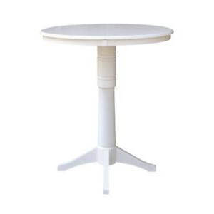 """Well Known Dawid Counter Height Pedestal Dining Tables With Regard To 36"""" Round Top Pedestal Table With 12"""" Leaf – Dining (View 7 of 25)"""