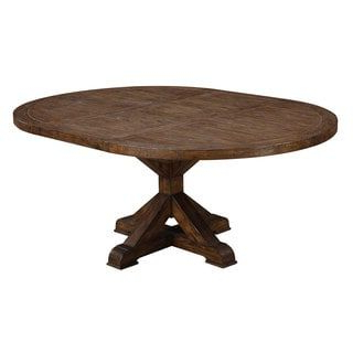 """Well Known Finkelstein Pine Solid Wood Pedestal Dining Tables With Emerald Home Chambers Creek Dark Pine 54"""" Round Dining (View 7 of 25)"""