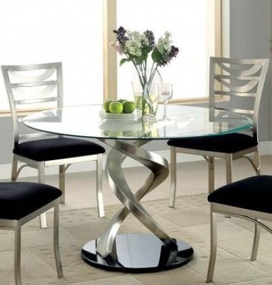 Well Known Furniture Of America Roxo Collection Cm3729t Table 48 With Nashville 40'' Pedestal Dining Tables (View 9 of 25)