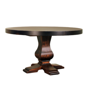 Well Known Geneve Maple Solid Wood Pedestal Dining Tables Intended For Pedestal Tables – Solid Wood, Canadian Made Furniture I (View 10 of 25)