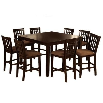 Well Known Hearne Counter Height Dining Tables Throughout Venetian Worldwide Eleanor 7 Piece Counter Height Dining (View 12 of 25)