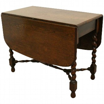 Well Known Hetton 38'' Dining Tables Throughout Antique Jacobean Style Solid Oak Drop Leaf Dining Table (View 10 of 25)