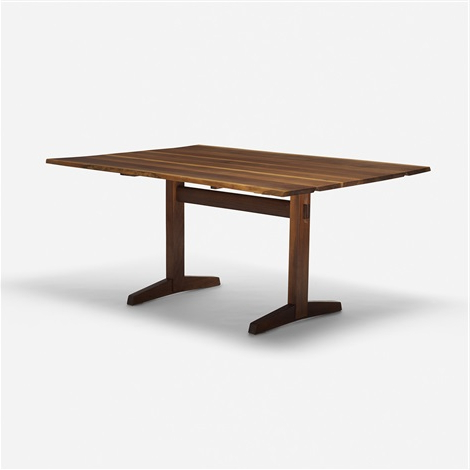 Well Known Kara Trestle Dining Tables In Trestle Base Drop Leaf Dining Tablegeorge Nakashima On (View 11 of 25)