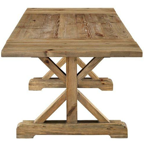 Well Known Katarina Extendable Rubberwood Solid Wood Dining Tables For Camden Den Extendable Solid Wood Dining Table In (View 25 of 25)