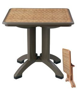 """Well Known Mcmichael 32'' Dining Tables In 32"""" Square Havana Folding Resin Table. 22.50 Lbs (View 24 of 25)"""