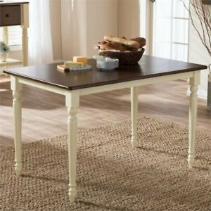 Well Known Napoleon French Country Buttermilk/cherry Finish 46 Within Nazan 46'' Dining Tables (View 11 of 25)