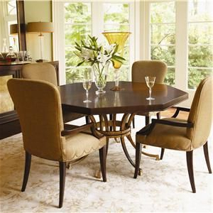 Well Known St. Tropez Five Piece Dining Set With Four Upholstered Arm Intended For Justine (View 8 of 25)