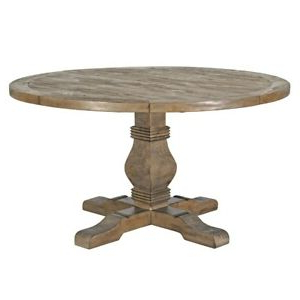 """Well Known Steven 55'' Pedestal Dining Tables With 55"""" Round Dining Table Solid Reclaimed Pine Wood Top Hand (View 11 of 25)"""