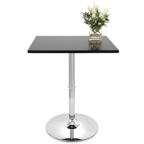 Well Known Steven 55'' Pedestal Dining Tables With Soho Square Dining Table Black – Atlantic Shopping (View 21 of 25)