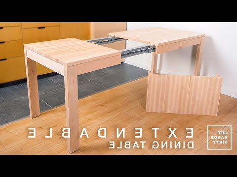 Well Known Tylor Maple Solid Wood Dining Tables For (77) How To Make An Extendable Dining Table With Solid (View 17 of 25)