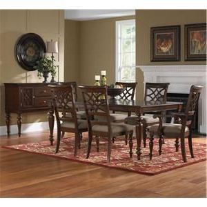 Well Known Woodmont 7 Piece Rectangular Dining Table & Upholstered With Regard To Akito (View 23 of 25)