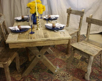 Well Liked Driftwood Trestle Table 48 X 36 X 30h Custom In Leonila 48'' Trestle Dining Tables (View 20 of 25)