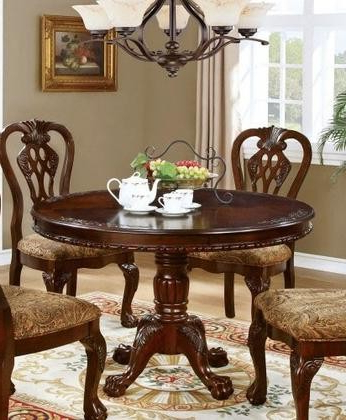 Well Liked Furniture Of America Elana Collection Cm3212rt Table 48 Inside Servin 43'' Pedestal Dining Tables (View 5 of 25)
