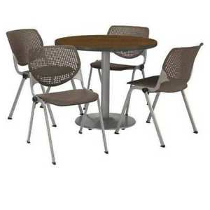 Well Liked Kfi T36rd B1922sl Wl 2300 P18 Round Breakroom Table And Regarding Round Breakroom Tables And Chair Set (View 24 of 25)