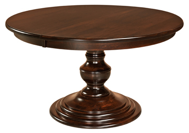 Well Liked Kingsley Single Pedestal Dining Table Within Kirt Pedestal Dining Tables (View 13 of 25)
