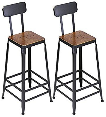 Well Liked Mcloughlin Dining Tables With Regard To Amazon: Vilavita Set Of 2 Pine Wood Bar Stools, Wooden (View 6 of 25)
