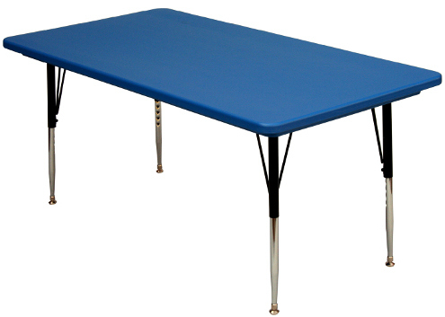 Well Liked Mode Square Breakroom Tables With Regard To Plastic Top Rectangular Adjustable Height Activity Table (View 5 of 25)