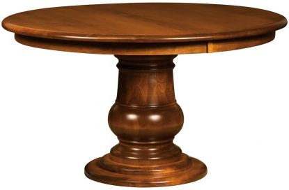 Well Liked Serrato Pedestal Dining Tables Inside Single Pedestal Tables – Countryside Amish Furniture (View 9 of 25)