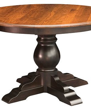 """Well Liked Serrato Pedestal Dining Tables With Albany Single Pedestal Table Sizes 48"""", 54"""" Or 60"""" Round (View 6 of 25)"""