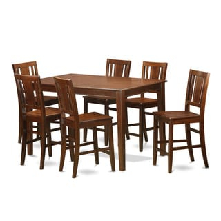 Well Liked Wes Counter Height Rubberwood Solid Wood Dining Tables Within Rubberwood Counter Height Table With 6 Chairs (natural (View 12 of 25)