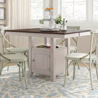 Westhoff Counter Height Extendable Pine Dining Table In For Most Current Overstreet Bar Height Dining Tables (View 17 of 25)