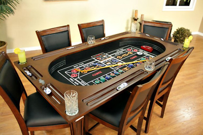 """Widely Used 48"""" 6 – Player Poker Tables In Vintage Antique Thunderbird Casino Craps Table, 12 Foot (View 9 of 25)"""