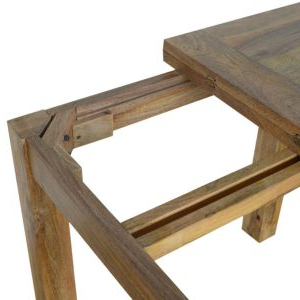 Widely Used Alfie Mango Solid Wood Dining Tables Pertaining To Solid Oak Finished Mango Wood Butterfly Extending Dining (View 21 of 25)