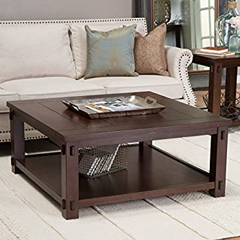 Widely Used Amazon: Ave Six Merge Square Coffee Table, 30 With Mccrimmon 36'' Mango Solid Wood Dining Tables (View 20 of 25)