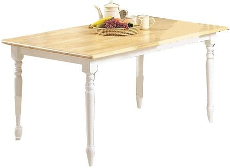 Widely Used Balfour 39'' Dining Tables With Regard To Acme Furniture Farmhouse Dining Table 02247nw Natural And (View 5 of 25)