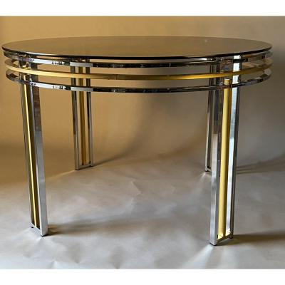 Widely Used Chrome And Brass 1980's Dining Table – Tables/guéridons With Gunesh (View 15 of 25)