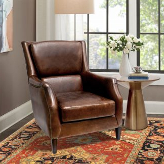 Widely Used Classic Leather Wingback Armchair (View 25 of 25)