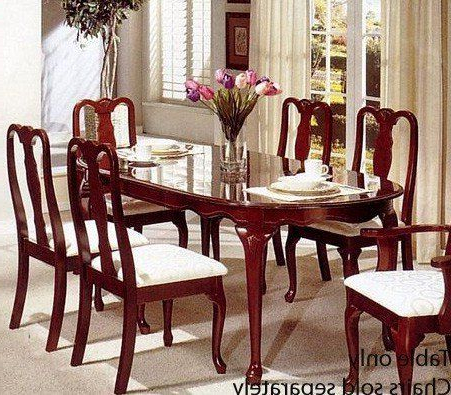 Widely Used Dining Table – Queen Anne Style Cherry Finish # F2088 Throughout 49'' Dining Tables (View 2 of 25)