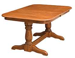 Widely Used Gaspard Extendable Maple Solid Wood Pedestal Dining Tables For The Wood Loft – Amish Custom Kitchen And Dining Room Tables (View 15 of 25)