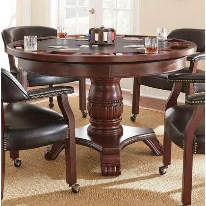 """Widely Used Servin 43'' Pedestal Dining Tables For Steve Silver Tournament Collection Tu5050tb 48"""" Dining (View 6 of 25)"""