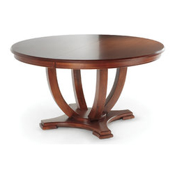 Woodcraft – Milano Dining Table – With Its Beautiful With Regard To Latest Gaspard Extendable Maple Solid Wood Pedestal Dining Tables (View 16 of 25)