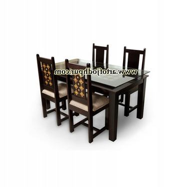 Yaqub 39'' Dining Tables In Most Up To Date Buy Brass Fitted Jodhpur Handicraft Dining Sets – Used (View 7 of 25)
