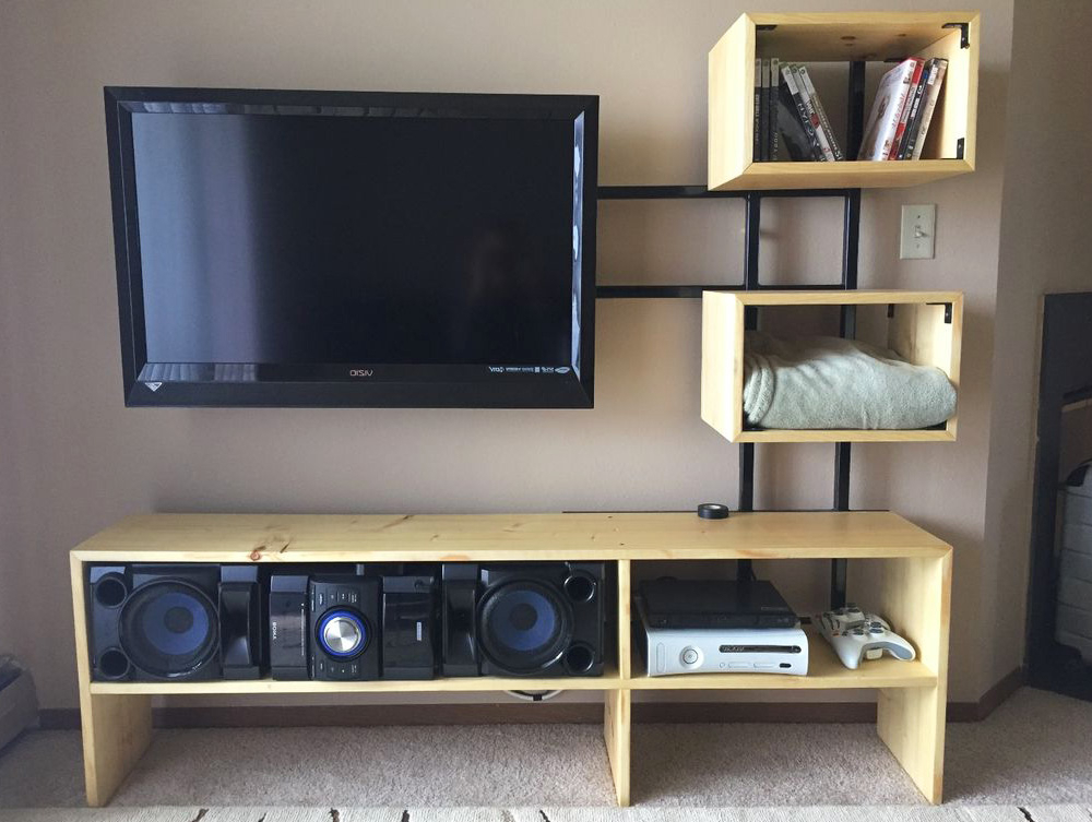 10 Best Doable Diy Tv Stand Ideas – Decorilo Within Latest Diy Convertible Tv Stands And Bookcase (View 10 of 10)