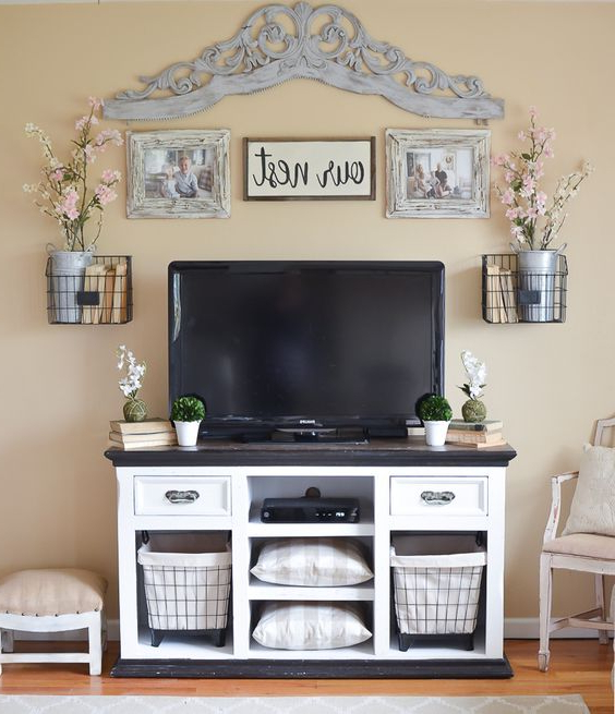 15 Stylish Design Tall Tv Stand For Bedroom Ideas With Well Known Rustic Grey Tv Stand Media Console Stands For Living Room Bedroom (View 9 of 10)
