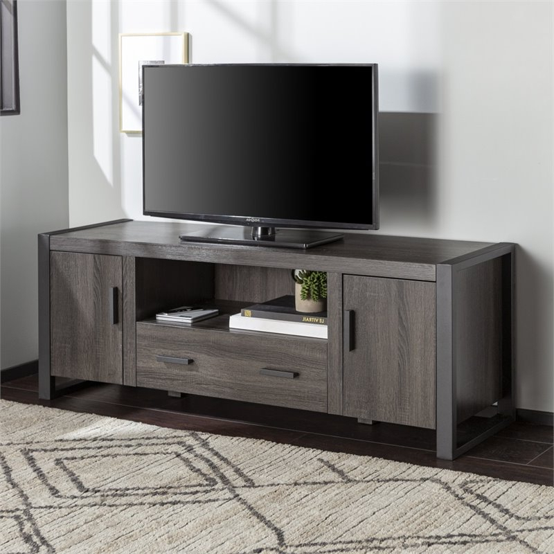 """2017 60"""" Charcoal Grey Wood Tv Stand – W60ubc22cl With Delphi Grey Tv Stands (View 24 of 25)"""