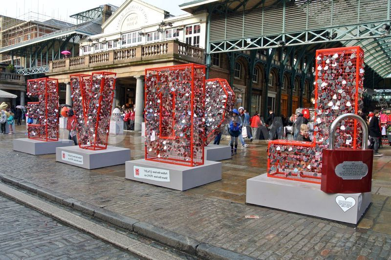 2017 Bhf Love Installation For Valentine's Day In Covent Garden In Covent Tv Stands (View 20 of 25)