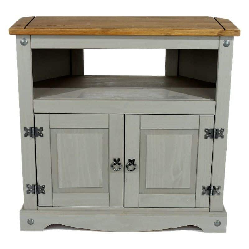 2017 Corona Small Tv Stands Throughout Grey Washed Pine Tall Corner Tv Unit (View 6 of 10)